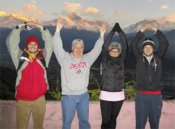 O-H-I-O in Himalayan Mountains, Nepal