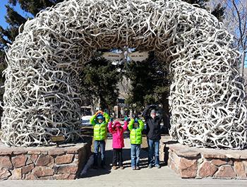 O-H-I-O in Jackson Hole, Wyoming